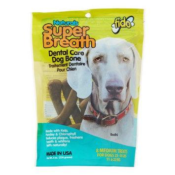 Fido Super Breath Dental Care Dog Bones with Chlorophyll - Medium 8ct.