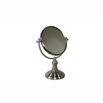 ORE International 5 in. x 14 in. Free Standing Round X3 Magnify Makeup Mirror