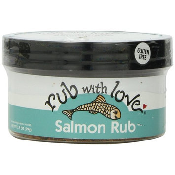 Rub with Love Salmon Rub Seasoning (3.5 oz. 2-Pack) All-Natural Herbs and Spices | Classic Dry Rub for Fish, Chicken, Pork, or Steak | Rich, Smoky Flavor