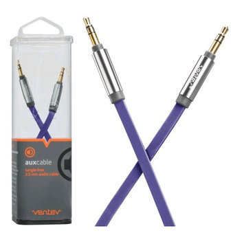 Ventev Aux Cable 4ft. for 3.5mm Devices - Purple