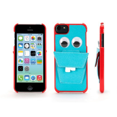 Griffin Blue Nommnomm Case w/ Headphone Storage for iPod touch 5th gen. - Case for iPod touch stores your earphones