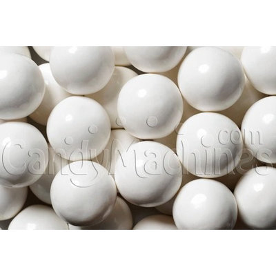 Candymachines Gumballs By The Pound - 5 Pound Bag of White Gumballs