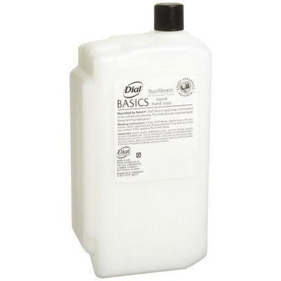Dial 1326751 Basics Honeysuckle Floral White Pearl Hypoallergenic Liquid Hand Soap, 1 Liter Refill Cartridge (Pack of 8)