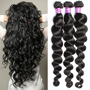 6A Brazilian Virgin Hair 3 Bundle 50G/Pcs Loose wave Human Hair Virgin Hair Extension Unprocessed Brazilian Virgin Hair []