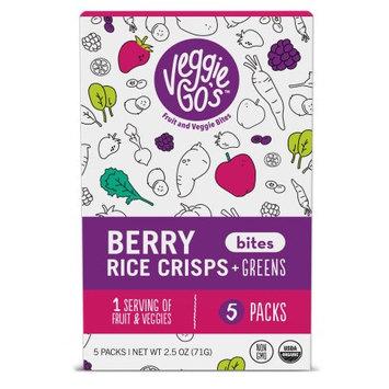 The Naked Edge Veggie-Go's 5-pack Berry Rice Crisps & Greens Fruit & Veggie Bites