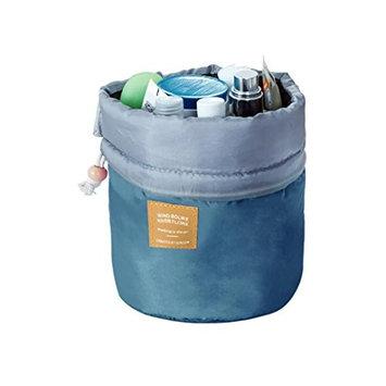 Miklan Travel Cosmetic Drawstring Wash Makeup Organizer Storage Toiletry Bag Barrel