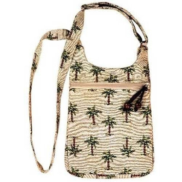 Isabella's Journey Paradise Palm Travelette Cross Body Handbags