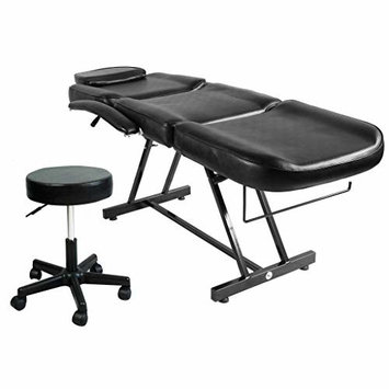 "Artist Hand 73"" Adjustable Massage Table Bed W/Hydraulic Stool, Beauty Massage Table Chair for Tattoo Parlor Spa Salon Facial"