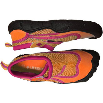 Lifeguard Girls' Water Shoe, Pink/Orange, 11/12 S