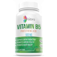 Vitamin B5 - Pantothenic Acid - with Calcium 500 mg, 100 Capsules by Fladora