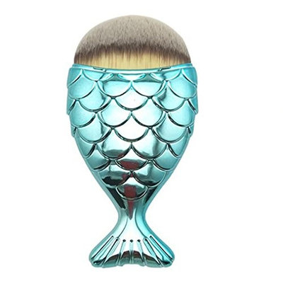 Xiaosan Makeup Brush, Fish Scale Makeup Brush Fishtail Bottom Brush Powder Blush Makeup Cosmetic Brush