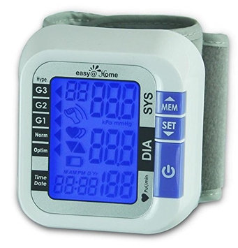 EasyHome Digital Wrist Blood Pressure Monitor with Heart Beat Pulse Meter function - Top Selling