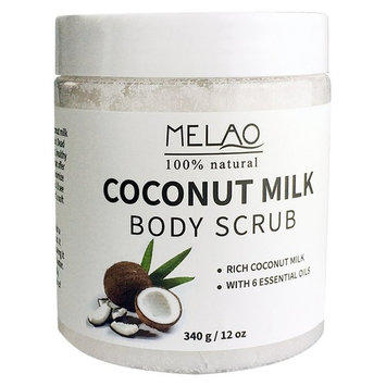 Vaiolab Coconut Milk Exfoliating Face & Body Scrub,100% Natural Deep Cleanser, Reduces appearance of Stretch Mark & Cellulite, Best Moisturizer for Soothing & Radiant Skin, Melao by Vaiolab (1 Pack)
