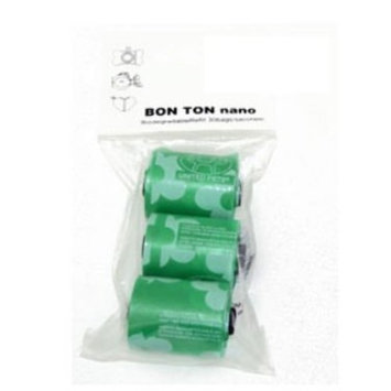 Petego United Pets Nano Bag Pet Waste Bags Replacement Rolls, Green, 30 Bags per Pack