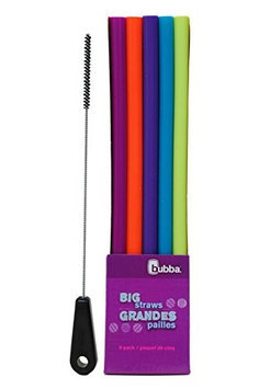 Bubba Brands Bubba Big Straws 5 Pack, Assorted Bold Colors, with Brushtech Big Straw Cleaning Brush Set
