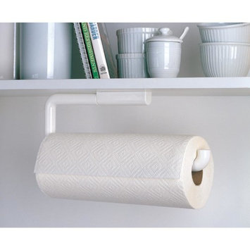 InterDesign Paper Towel Holder for Kitchen - Wall Mount/Under Cabinet, White [Mounted Paper Towel Holder]