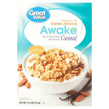 Wal-mart Stores, Inc. Great Value Awake Vanilla Almond Cereal, 12.4 oz