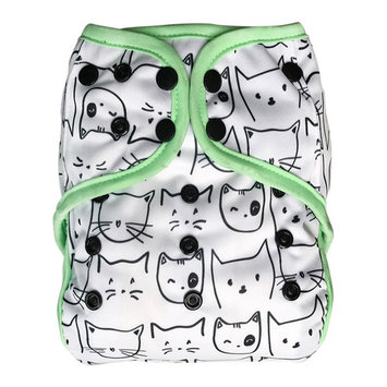 EcoAble Baby Day & Night All-In-One AIO Cloth Diaper with Insert, Kitty