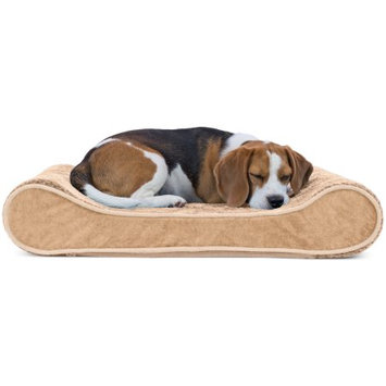 FurHaven Plush Luxe Lounger Orthopedic Pet Bed Camel
