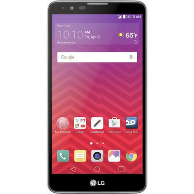 Virgin Mobile - LG G Stylo 2 4G with 16GB Memory Prepaid Cell Phone - Titan Silver