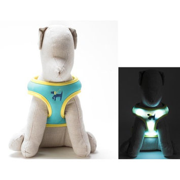 Dog-e-glow Light Up LED Dog Harness - Patented Light Up Comfort Harness for Puppies and Dogs - by Dog e Glow (Green, medium 19