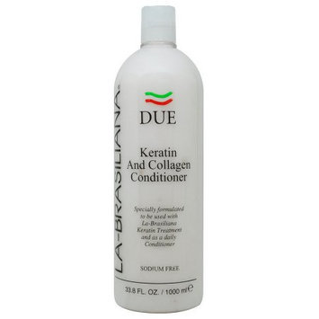 La Brasiliana La-Brasiliana Due Keratin & Collagen Conditioner 1000ml/33.8oz