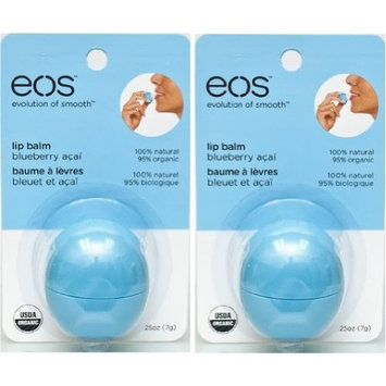 EOS Smooth Sphere Lip Balm Blueberry Acai 0.25 oz (Pack of 2)