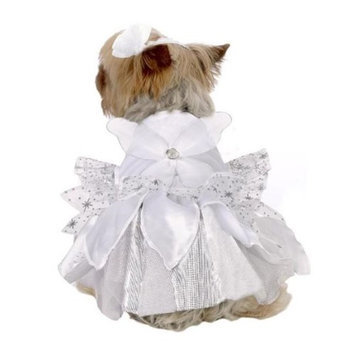 Stellar Pet Boutique SP14717 Silver Angel Costume