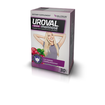Neopharma S.r.o. UROVAL ACUTE (30) D-MANNOSE AND CRANBERRY EXTRACT HELP MAINTAIN HEALTHY URINARY TRACT