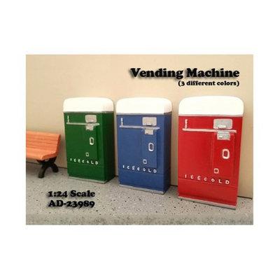 American Diorama 23989B 1 Piece Vending Machine Accessory Diorama Blue for 1-24 Scale Models