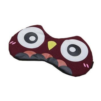 Panda Superstore EM-BEA11061971-ARIEL00234 Comfortable Eye Sleep Purplish Red Owl Perfect for Travelers Mask