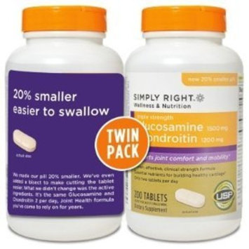 Members Mark - Glucosamine Chondroitin, Triple Strength, 400 Tablets, Twin Pack (2 Bottles of 200)