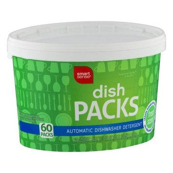 Smart Sense Dish Packs Automatic Dishwasher Detergent Fresh Scent - 60 CT