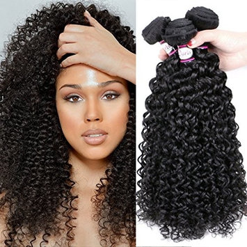 Doris Beauty Hair 100% Brazilian Unprocessed Virgin Kinky Curly Human Hair Weave 3 Bundles Deep Curly Hair Extensions Natural Black Color Kinky Curly Hair