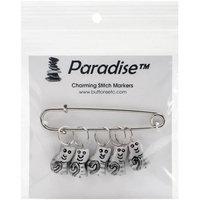 Paradise Exotic Shawl Pin Kitty Stitch Markers-Sizes 0 To 10 5/Pkg
