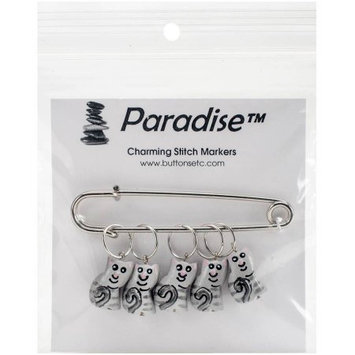 Paradise Exotic Shawl Pin Kitty Stitch Markers-Sizes 0 To 10 5/Pkg