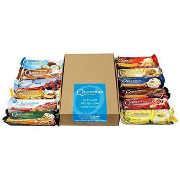 Quest Bars High Protein Gluten Free, Original Variety Pack (2-Pack of 12)