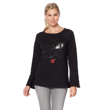 DG2 Diane Gilman Jeweled Kitty Sweatshirt 570-532