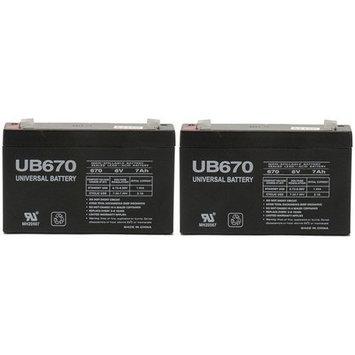 6v 7000 mAh UPS Battery for APC PS250 PS250I - 2 Pack