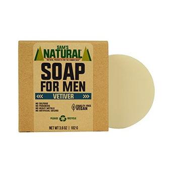 Sam's Natural Soap for Men Vetiver - Bar Soap - Natural - Vegan and Cruelty Free - America's Favorite