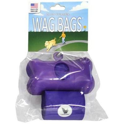 Wag Bags Dispenser Bone [Options : BLACK (30 Bags)]