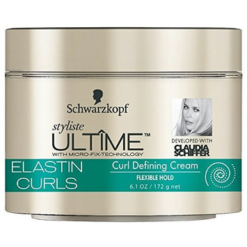 Schwarzkopf Styliste Ultime Elastin Curls Hair Cream, 6.1 Ounce (Pack of 2)