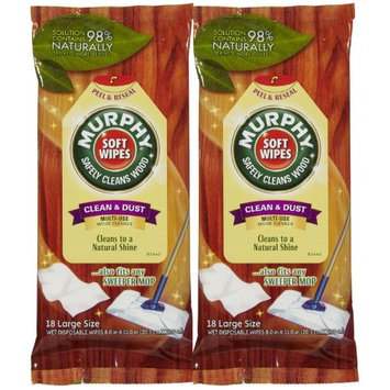 Murphy Oil Soft Wipes Multi Use Wood Cleaner - 18 ct - 2 pk