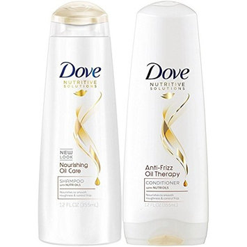 Dove Nutritive Therapy, Nourishing Oil Care, DUO Set Shampoo + Conditioner, 12 Ounce, 1 Each