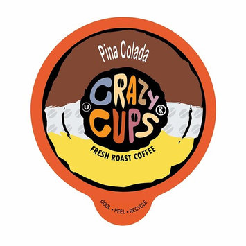 Crazy Cups Flavored Coffee, for the Keurig K Cups 2.0 Brewers, Seasonal Pina Colada, 10.1 oz, 22 Count