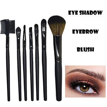 LiPing Wood Makeup Brushes 7 PCs Makeup Brush Set Premium Synthetic Foundation Brush Blending Face Powder Blush Concealers Eye Shadows Make Up Brushes Kit