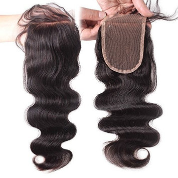Elva Hair Remy Human Hair Body Wave Lace Top Closure 3.5x4 Natural Color 8''-18'' (18inch) by Elva Hair