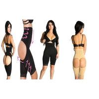 Smok69 High Waist Butt Lifters Thigh Trimmers Tummy Control Bodysuit 2 pack Black 2XL 3XL