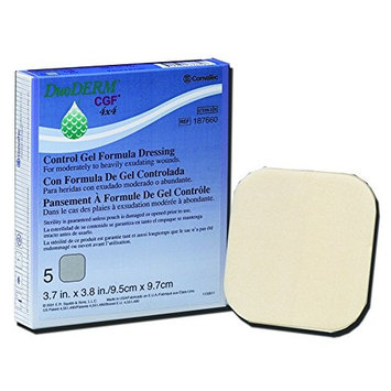 Hydrocolloid Dressing DuoDERM® CGF® 6 X 8 Inch Rectangle Sterile - 5/BX (MFN # 187643)