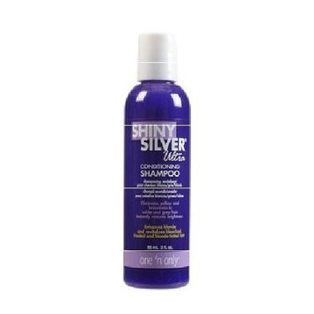 (2) One 'n Only Shiny Silver Ultra Conditioning Shampoo -Travel Set - 3 fl.oz : Beauty